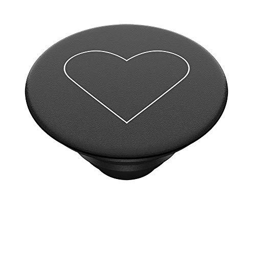 PopSockets PopTop - Top Intercambiable para tu PopGrip Intercambiable - White Heart Black
