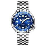 ADDIESDIVE Diver 300 metros reloj sumergible hombre esfera azul analógico luminiscente