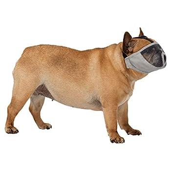 TRIXIE Museliere pour races a museau court en polyester - XS?S - 15 cm - Gris - Pour chien