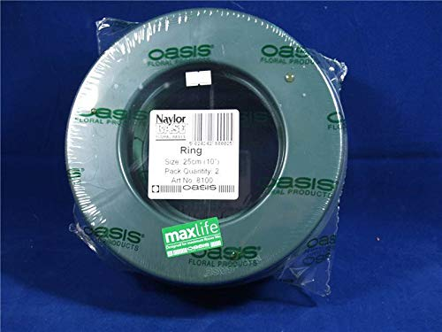 2 x Florist Floral Foam Plastic Backed 10' (10 Inch) Wreaths Rings Funeral Tribute Christmas Wet Foam Oasis Val Spicer