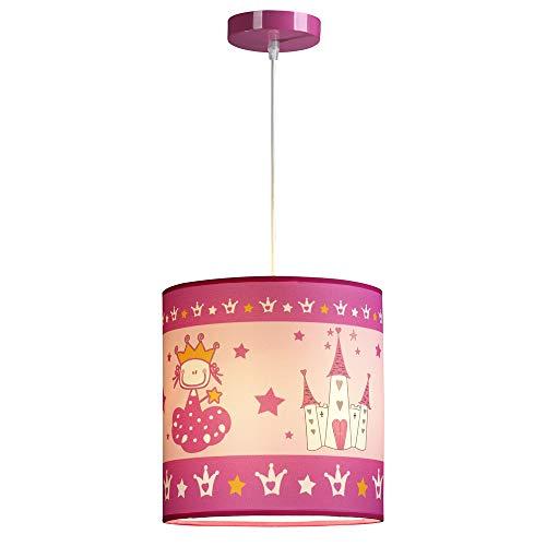 Wonderlamp W-A000123 Lámpara de techo infantil Princesa, Color Rosa