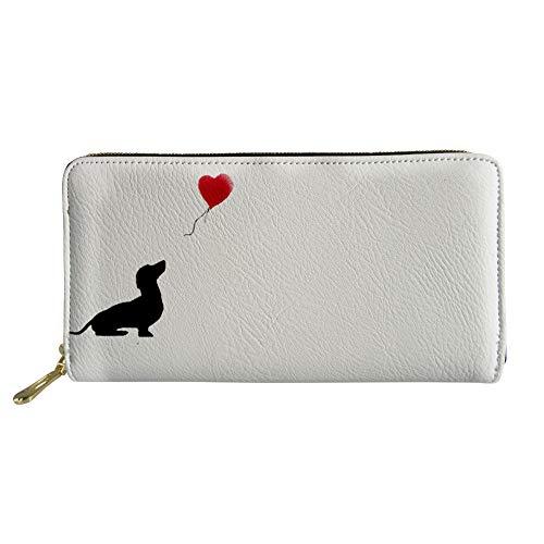 HUGS IDEA Damen-Geldbörse mit Boston-Terrier-Motiv, lang, Leder