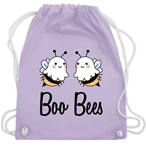 Shirtracer Halloween - Boo Bees - schwarz - Unisize - Pastell Lila - Spruch - WM110 - Turnbeutel und Stoffbeutel aus Baumwolle