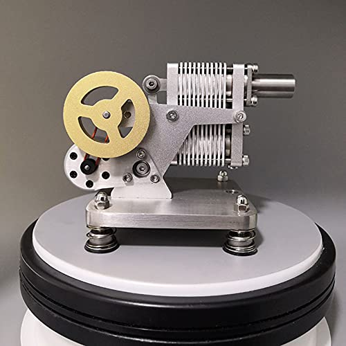 TWY Motor Stirling Modelo de Motor Rocker Motor Stirling Juguete Educativo Generador de Electricidad LED Colorido