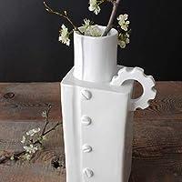 Vaso Rettangolare, Ceramica artigianale – design meccanico (13 x 27,5 x 9 cm)