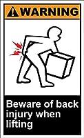 185グレートティンサインアルミニウム警告を持ち上げるときは背中の怪我に注意してください屋外および屋内サイン壁の装飾12x8インチ