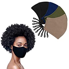 PACK OF 5 - This value pack of masks gives you variety to match with any outfit. The masks in this multipack feature a dark inner layer that matches the outer layer for make-up protection. 3 LAYERS OF PROTECTION - This 3-ply perfect fit Mask contains...