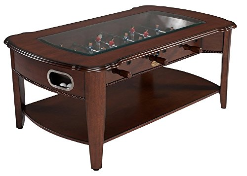 Berner 2 in 1 Foosball & Coffee Table - Antique Walnut