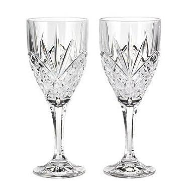 Godinger 25731 Dublin Crystal Set of 12 Goblets, Clear