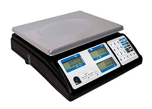 Bilancia peso/prezzo omologata per la vendita diretta 15 kg/5 g – carico min. 100 g.