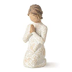 Sentiment: Seeking the quiet within written on enclosure card 4 Inch hand-painted resin figure; ready to display on a shelf, table or mantel; to clean, dust with soft brush or cloth Gift to support and encourage hope and healing; can be added to your...