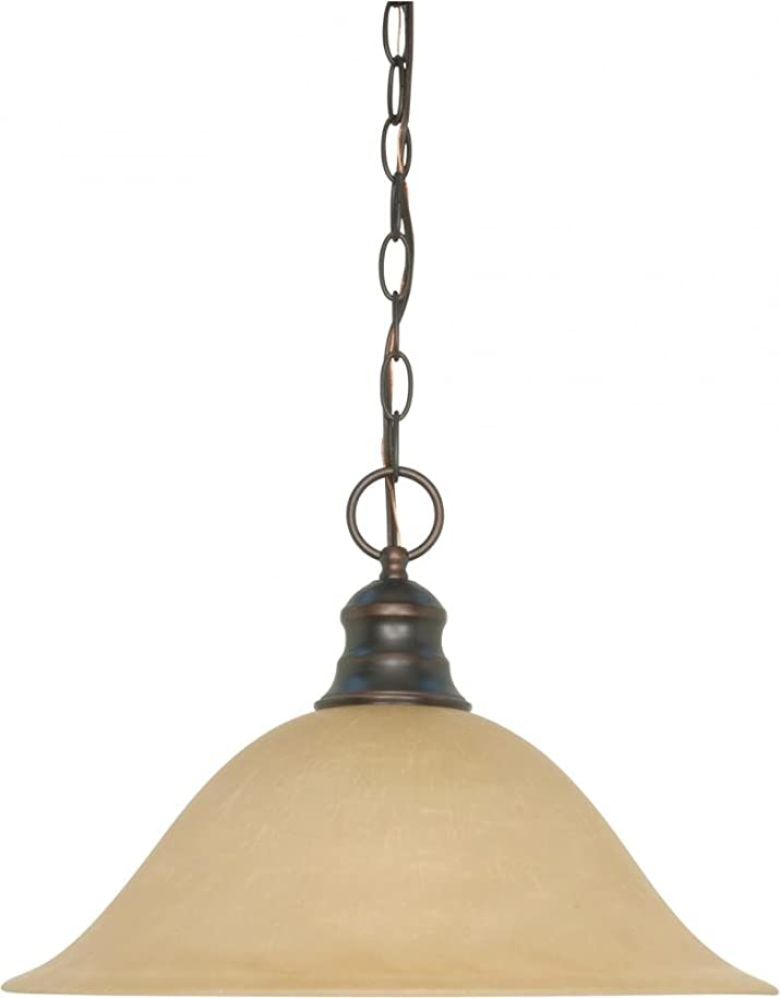Nuvo 60/1276 Hanging Dome With Champagne Glass, Mahogany Bronze