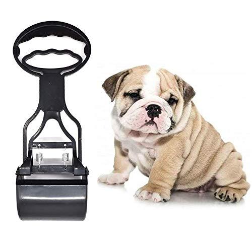 afdg Pet Pooper Scooper, Recogedor de Excrementos, Recogedor de Cacas de Perros con Mango Largo para Excrementos de Perros y Gatos (Negro)
