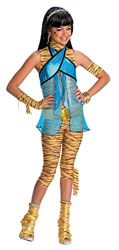 Brandsseller Monster High Cleo de Nile Kinderkostüm Mädchenkostüm Karneval Fasching - Größe: L