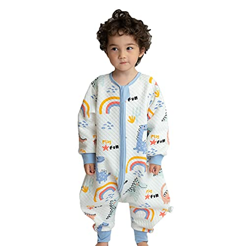 Saco de Dormir con Pies para Bebé,Cómodo Manga Larga Algodón Pijama Manta Niño Niña Unisex