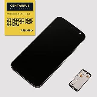 Replacement for Motorola Moto G4 XT1620 XT1621 XT1624 XT1625 XT1626 5.5 inch LCD Screen Display Touch Digitizer with Bezel Frame Assembly Part Repair (Black)