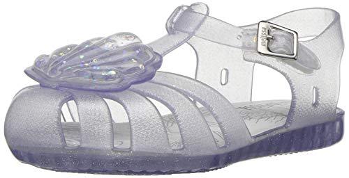 Mini Melissa Baby-Girl's Mini Aranha XII Flat Sandal, Clear Glass Sparkly, 5 Medium US Toddler