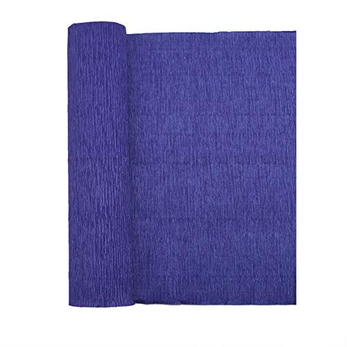 250 * 25 cm Origami Papel Arrugado Rollo Coloreado Crepe Papel Boda DIY Flores Envoltura Decoración Fiesta Regalo Embalaje Papel Artesanía (Kleur : F09 Royal Blue)