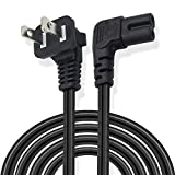 XINYUWIN 6FT 90 Degree Angled 2-Prong Angle TV AC Power Cord Replacement for Samsung PN 3903-000853 3903-000599 90° Angled 2 Prong Figure 8