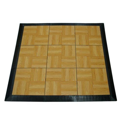 Greatmats Portable Dance Floor 9 Tiles, Portable Tap Dance Kit Light Oak