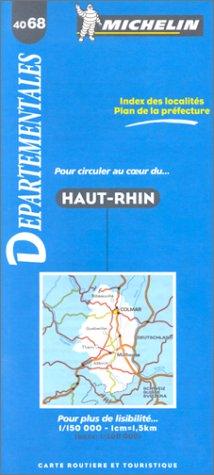 Carte routière : Haut-Rhin, 4068, 1/150000