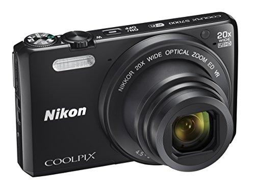 Cámara de Fotos Digital a Nikon Coolpix S7000 (Compacto, 16 Mpx, 20-aumentos Zoom, 6400 ISO, 7,6 cm (7.62 cm) LCD-Monitor, Full HD) Negro (Importado)