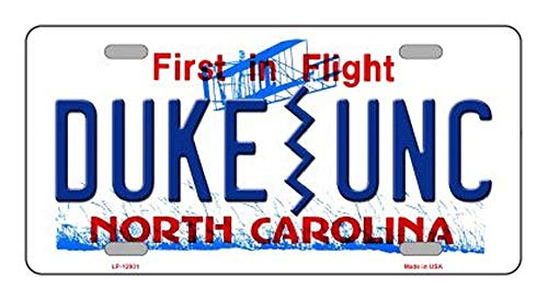 Duke | UNC Novelty Metal License Plate (with Sticky Notes)