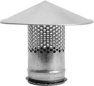 Round Roof Rain Cap HVAC Vent Galvanized Steel All Weather Rain Cap Roof Top Round Roof Vent with Rubber Gasket for Perfec...