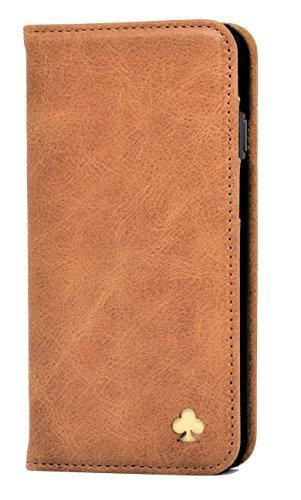 Porter Riley - Lederhülle für iPhone SE (2020) & iPhone 8 / iPhone 7. Premium Echtleder Standhülle/Cover/Brieftasche/Ledertasche (Hellbraun)
