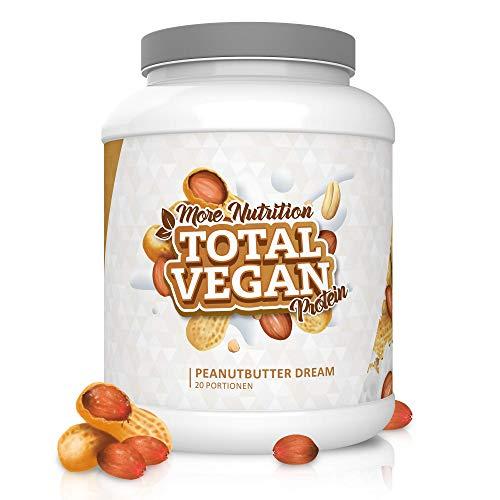 MORE NUTRITION - Total Vegan Protein, rein pflanzliches Proteinpulver aus Erbsenprotein ohne Soja, exellenter Premium-Geschmack, 100% Vegan, 1000g (Peanutbutter Dream)