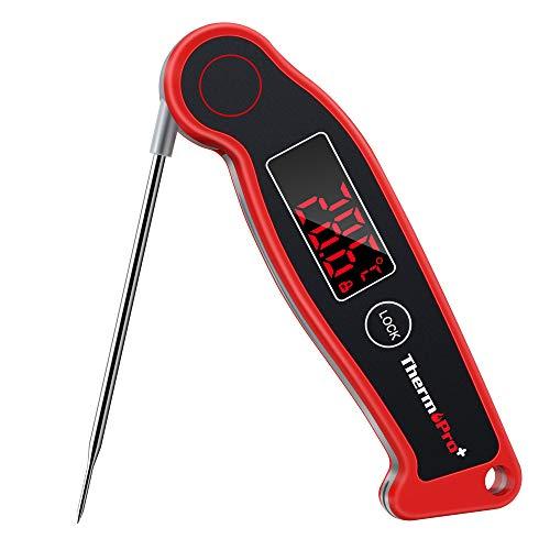 ThermoPro TP19 IPX67 Wasserdichtes Küchenthermometer Fleischthermometer Grill-Bratenthermometer mit Magnethalterung für Braten, Wein, BBQ