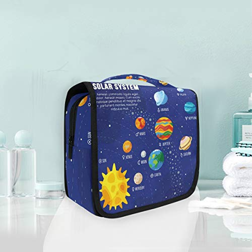 Make-up cosmetische tas universum zonnestelsel zonne-energie planeten draagbare opslag reizen toilettas