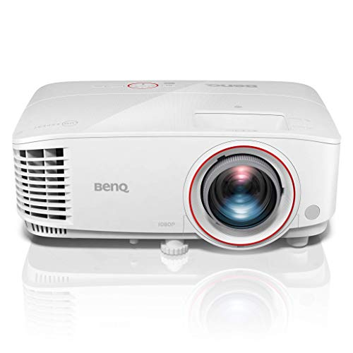 BenQ TH671ST Full HD 1080p Projector for Gaming: High Brightness 3000 ANSI Lumen, Low Input Lag, Superior Short Throw for Table Top Placement - White (Renewed)