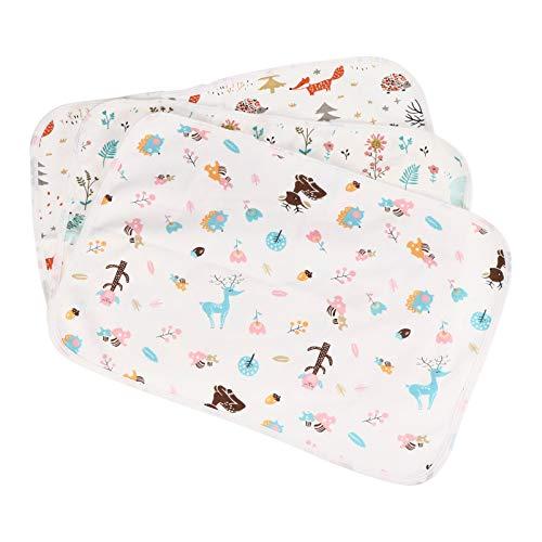 Tomaibaby 3 Piezas de Almohadillas de Bebé Alfombrilla de Cama Impermeable Super Absorbente Almohadilla de Cambio de Incontinencia Pañales de Bebé para Bebés Y Adultos