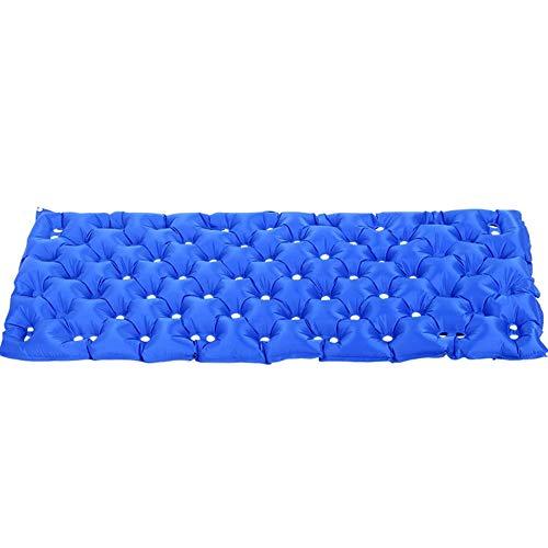 Anti-decubitus opblaasbare matras met riem, design met ademende overtrek voor ouderen, opblaasbaar, soft stretcher luchtbed anti-decubitus kussen 190X86CM Blauw