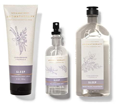 Bath and Body Works Aromatherapy CEDARWOOD VANILLA Gift Set - Body Cream -...