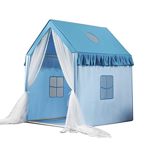 CSQ Blue Pink Solid Color Tent, Gifts for Boys & Girls Birthday, Outdoor Baby's Game House Picnic Children's Play Tent Children's play house (Color : Blue, Size : 95 * 125 * 140CM)