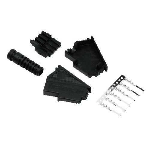 Hama TAE-F Stecker zur Eigenkonfektionierung (sechs polig, Knickschutz, Bausatz) schwarz
