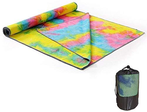 EIIDJFF Esterillas de yoga gruesas, antideslizantes, gruesas, antideslizantes, absorbentes, para yoga, impresión de yoga, manta de yoga (color: G)