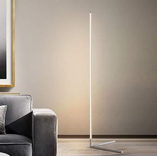 R&P LED Stehlampe Dimmbar Eck-Stehleuchte mit Fernbedienung, Für Arbeitszimmer/Schlafzimmer/Wohnzimmer, 55 in,Weiß