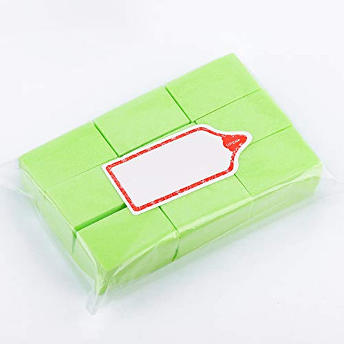スリム宣言透明にLWBTOSEE ネイルワイプ コットンパッド 綿繊維 クリーニングパッド リムーバーワイプ 柔らかい 安全無毒 600枚入 全4色 (緑)