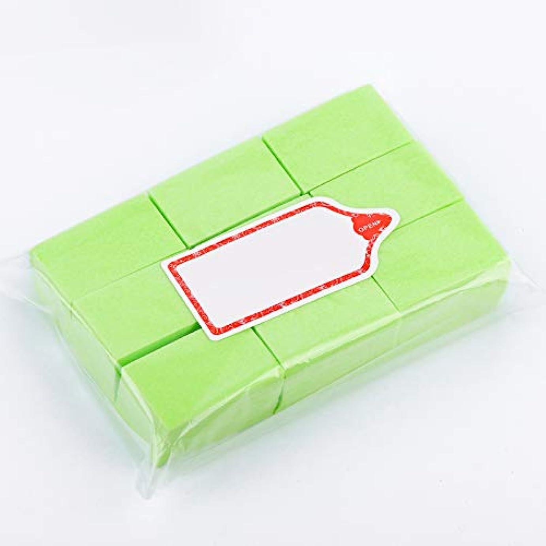 緊張生活眼LWBTOSEE ネイルワイプ コットンパッド 綿繊維 クリーニングパッド リムーバーワイプ 柔らかい 安全無毒 600枚入 全4色 (緑)