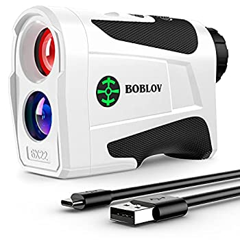BOBLOV 1000Yards Slope Golf Rangefinder,Professional 400Yards Flag Locking Golf Distance Finder Slope On/Off with Visible Slope Lights Magnet Suction Side USB-C Charging Port  White