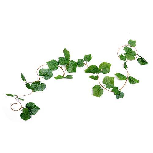 GRASARY Simulación de flores de ratán, hojas de Ivy Vines para aire acondicionado, pipas de agua, decoración para hacer tu vida llena de vitalidad, buenos recuerdos A4