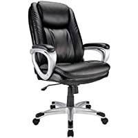 Realspace Tresswell Bonded Leather High-Back Executive Chair