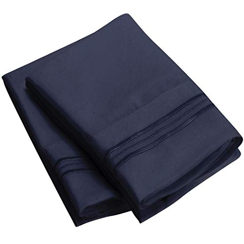 Mellanni Luxury Pillowcase Set - Brushed Microfiber 1800 Bedding - Wrinkle, Fade, Stain Resistant - Hypoallergenic (Set of 2 King Size, Royal Blue)