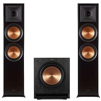 Klipsch  1 Pair  RP-8000F Reference Premiere Floorstanding Speaker - Each  Ebony  SPL-100 Powerful Detailed Home Speaker Set of 1 Black Bundle
