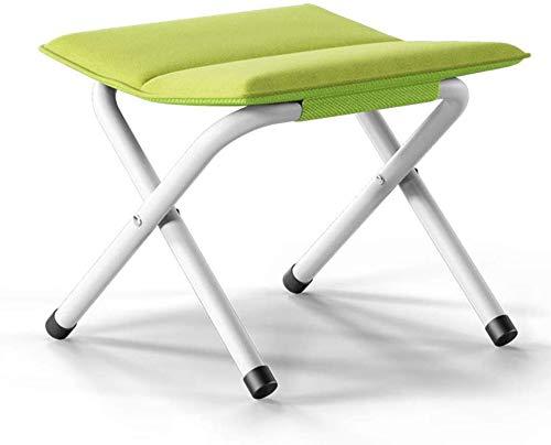 YLCJ balkon klapstoel, spons metaal kleine kruk kinderkamer garderobe kleine stoel eenvoudige draagbare kruk maximale belastbaarheid 100 kg (kleur: lila) groen