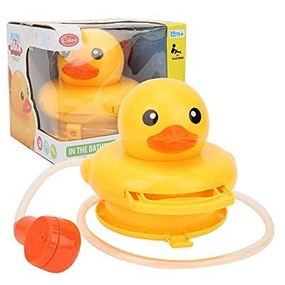Baby Bath Toys,Electric Little Yellow Duck Animal Shower Rain Head Bathtub Showers Spray Game Toy