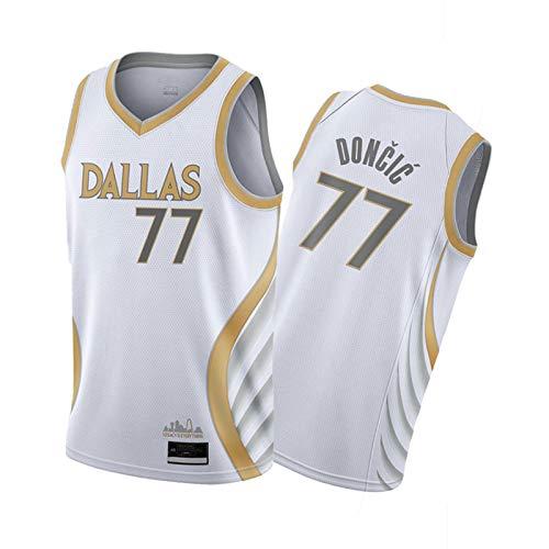 FGDF LUKǎ DǒNCǐC Jersey de Baloncesto de la Escuela Secundaria, 2021 Tribute Game Limited Edition Uniform, City Classic Forward Peak Player Jersey / # 77 Limited -M